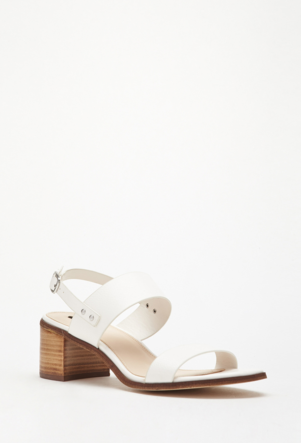 b2c839f8fa5afe ... Forever 21 Faux Leather Slingback Sandals ...