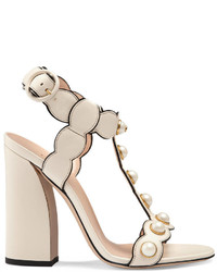 Gucci Leather T Strap Sandal