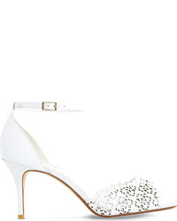fc46feb3e2f Women s White Leather Heeled Sandals by Dune