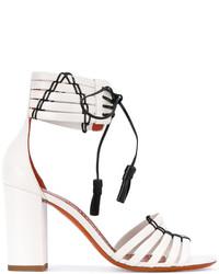 Santoni Tie Up Heeled Sandals