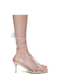 Gianvito Rossi White Gwyneth Heeled Sandals