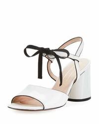 Marc Jacobs Wilde Tie Block Heel Sandal White