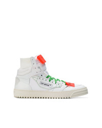 Men S White High Top Sneakers By Off White Men S Fashion