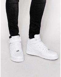 Men S White Leather High Top Sneakers From Asos Men S Fashion