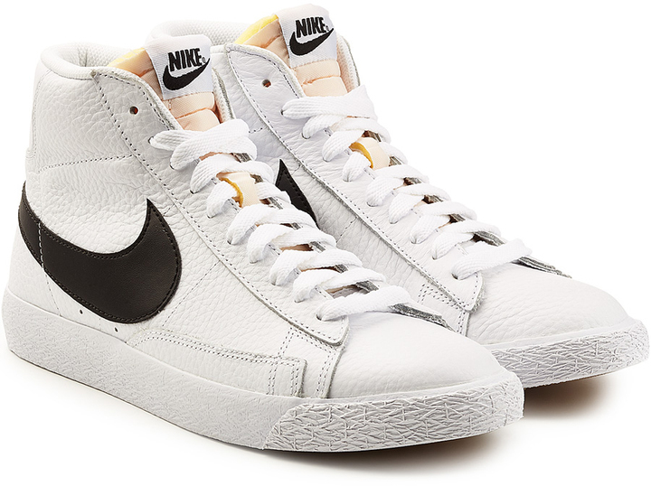 low priced b5d81 48557 ... Nike Blazer Mid Retro Leather High Top Sneakers ...