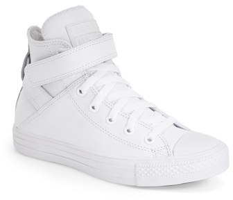 b69c643666c2 ... Converse Chuck Taylor All Star Brea Leather High Top Sneaker ...