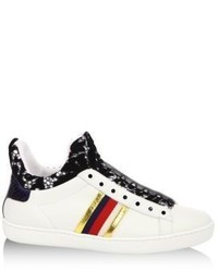 Gucci New Ace Lace Detail Leather High Top Sneakers