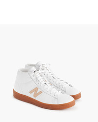 67367bcbbcf J.Crew New Balance For 891 Leather High Top Sneakers In White, $63 ...
