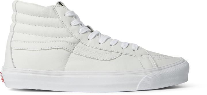 vans vault sk8 hi white leather
