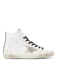 Golden Goose White And Black Francy Sneakers