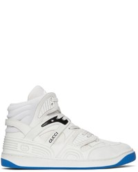 Gucci White Basket High Top Sneakers