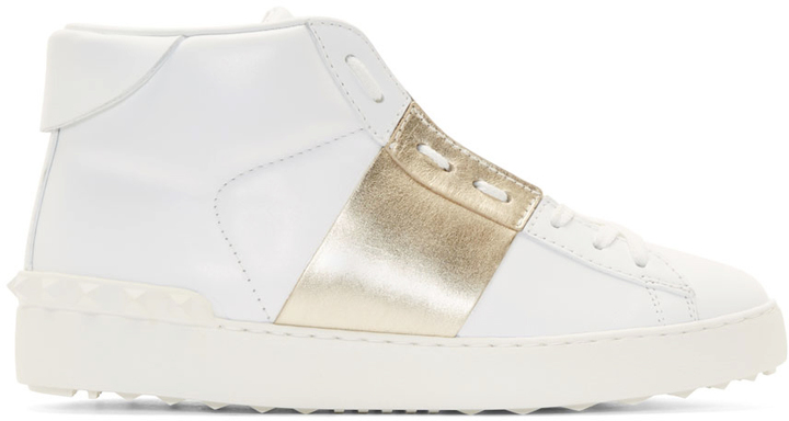 Valentino Hight Top Leather Sneaker AC1tZyznUc