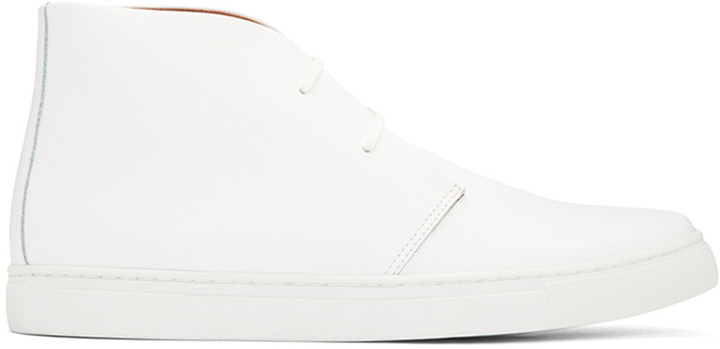White Leather High-Top Sneakers Junya Watanabe vPYXDmM4Z0