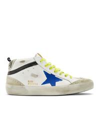 Golden Goose White Wingtip Mid Star Sneakers