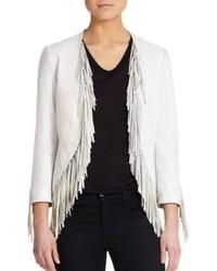 Rebecca Minkoff Ace Leather Fringe Jacket
