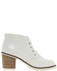 Asos Aspect Lace Up Ankle Boots White