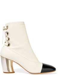 Proenza Schouler Leather Ankle Boots White