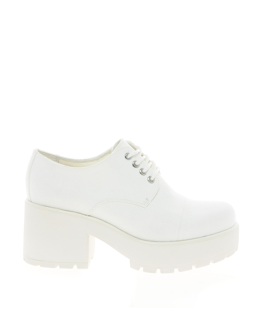 white leather lace up ankle boots vagabond dioon white