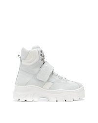 MSGM Hi Top Platform Sneakers