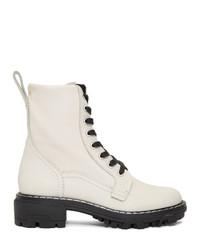 Rag and Bone Off White Shiloh Boots