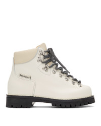 Proenza Schouler White Lace Up Hiking Boots