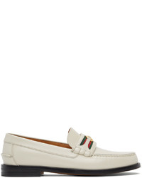 Gucci Off White Interlocking G Loafers
