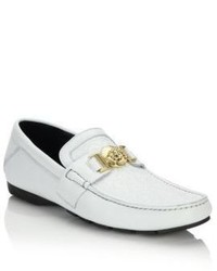 Versace Vanitas Stitched Leather Loafers