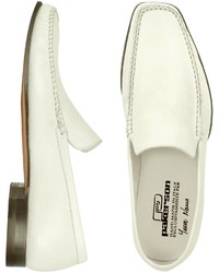 White italian handmade leather loafer shoes medium 141414