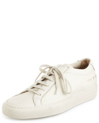 Common Projects Achilles Leather Low Top Sneaker Warm White