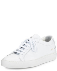 Common Projects Achilles Leather Low Top Sneakers White