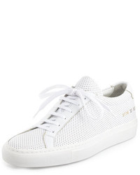 Common Projects Achilles Perforated Leather Low Top Sneaker White