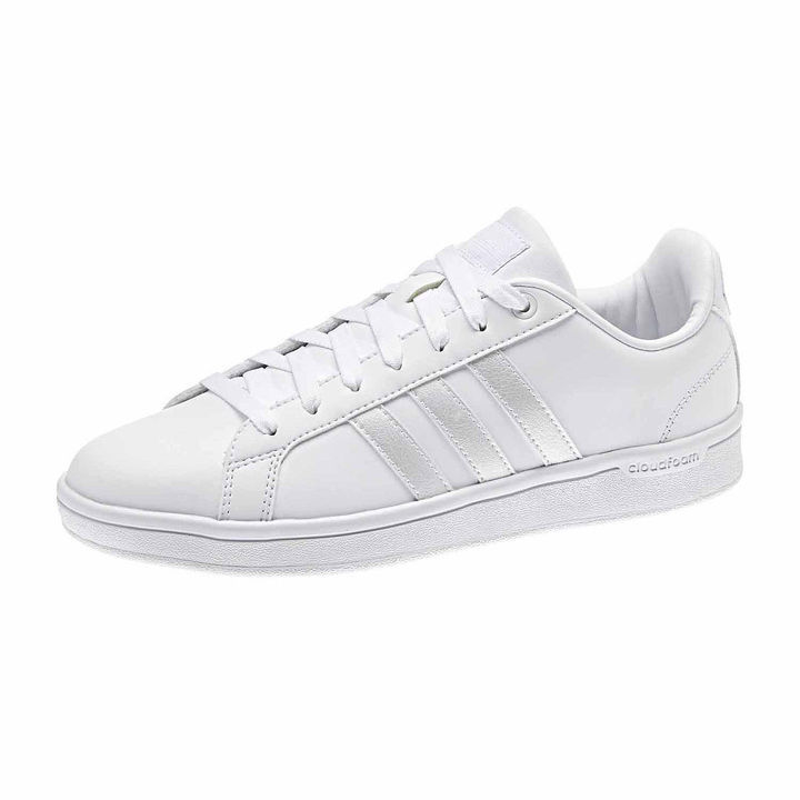 b8565069ab29 ... jcpenney › adidas › White Leather Low Top Sneakers adidas Advantage  Iridescent 3 Stripe Sneakers