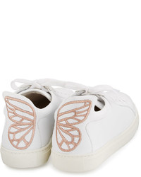 Sophia Webster Bibi Butterfly Leather Low Top Sneaker White