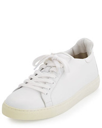 Sophia Webster Bibi Butterfly Leather Low Top Sneaker White