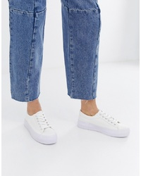 New Look Chunky Flatform Trainer In White