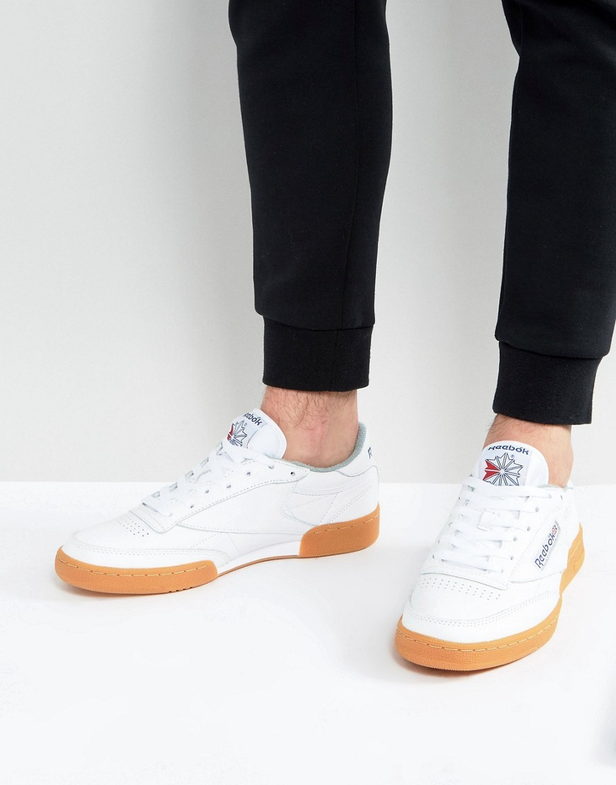 Reebok Club C 85 Trainers With Gum Sole