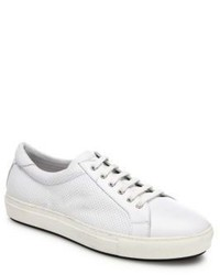 Saks Fifth Avenue Collection Perforated Leather Low Top Sneakers