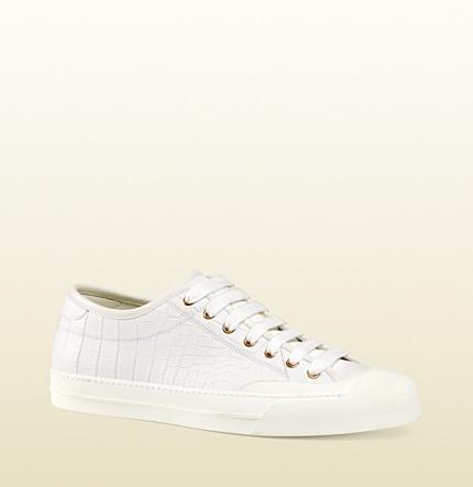 2d0322694e9 ... Gucci Crocodile Low Top Sneaker ...
