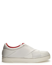 Proenza Schouler Crossover Strap Leather Low Top Trainers