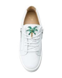 Giuseppe Zanotti Design Crystal Palm Embellished Sneakers