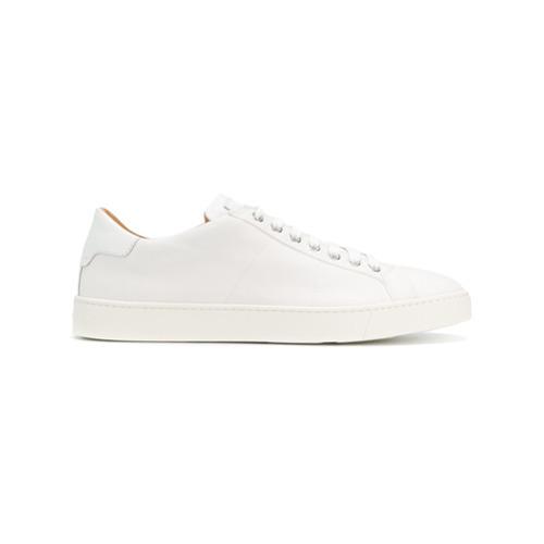 Santoni Denim Lace Up Sneakers