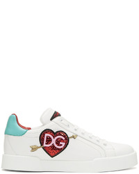 Dolce & Gabbana Dolce And Gabbana White Heart Sneakers