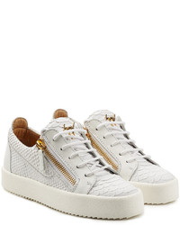 Giuseppe Zanotti Textured Leather Sneakers