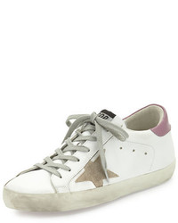 Golden Goose Deluxe Brand Golden Goose Colorblock Leather Low Top Sneaker White