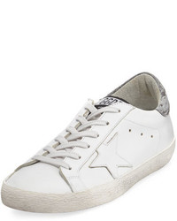 Golden Goose Deluxe Brand Golden Goose Glittered Leather Low Top Sneaker