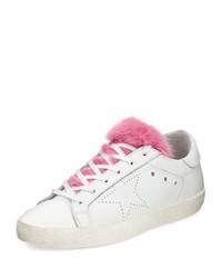 Golden Goose Deluxe Brand Golden Goose Superstar Fur Trim Low Top Sneaker