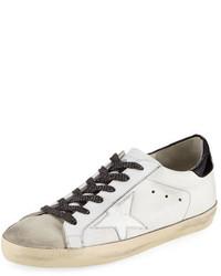 Golden Goose Deluxe Brand Golden Goose Superstar Leather Low Top Sneaker Whiteblack