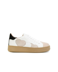 Twin-Set Hearts Patch Platform Sneakers