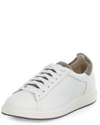 Brunello Cucinelli Icaro Leather Low Top Sneaker