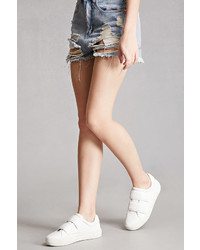 Forever 21 J Slides Leather Low Top Sneakers